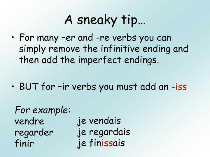 A sneaky tip…