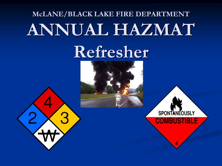 Mclane black lake fire department annual hazmat refresher