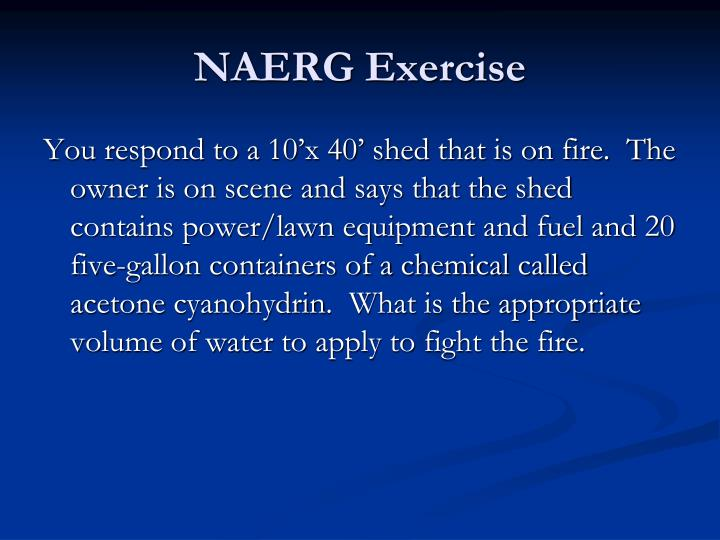 NAERG Exercise