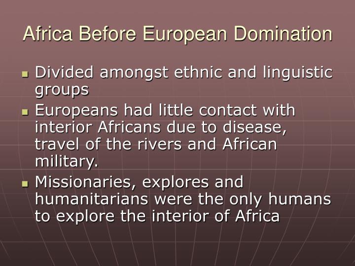 Africa before european domination