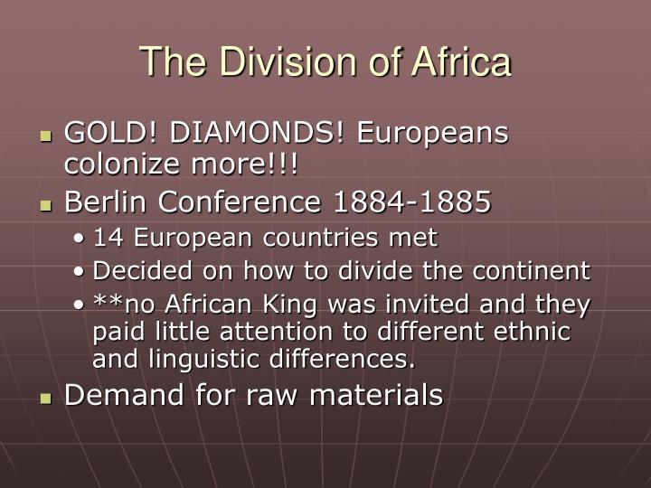 The Division of Africa