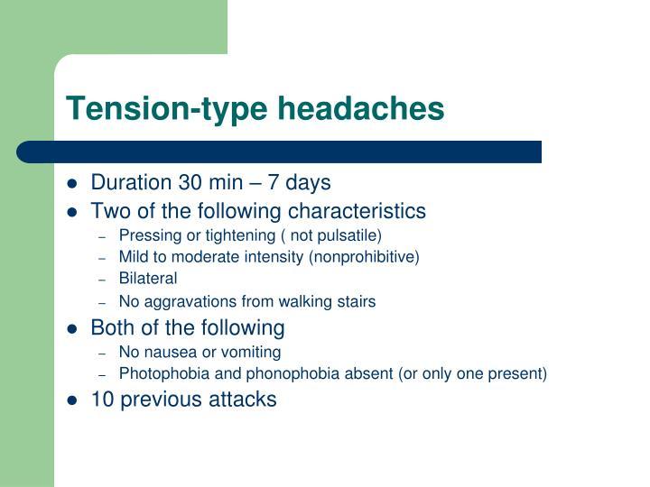 Tension-type headaches