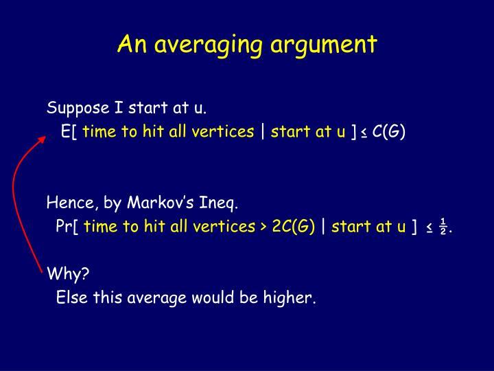 An averaging argument