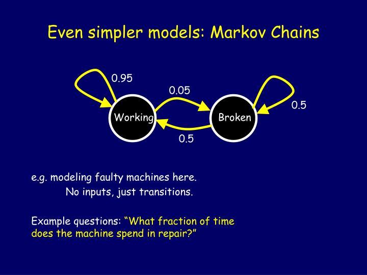 Even simpler models: Markov Chains