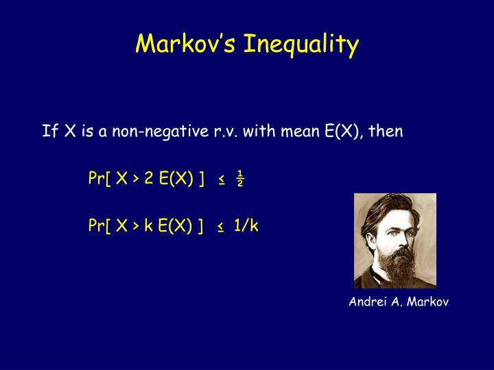 Markov's Inequality