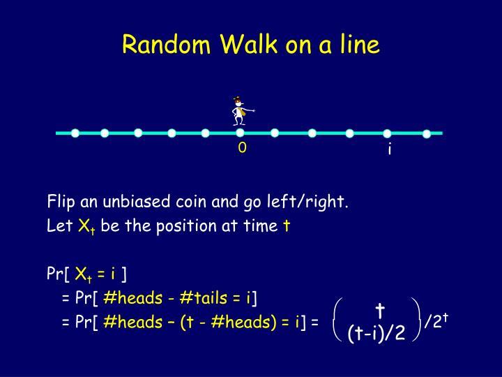 Random Walk on a line