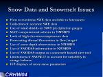 snow data and snowmelt issues1