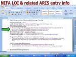 nifa loi related aris entry info2