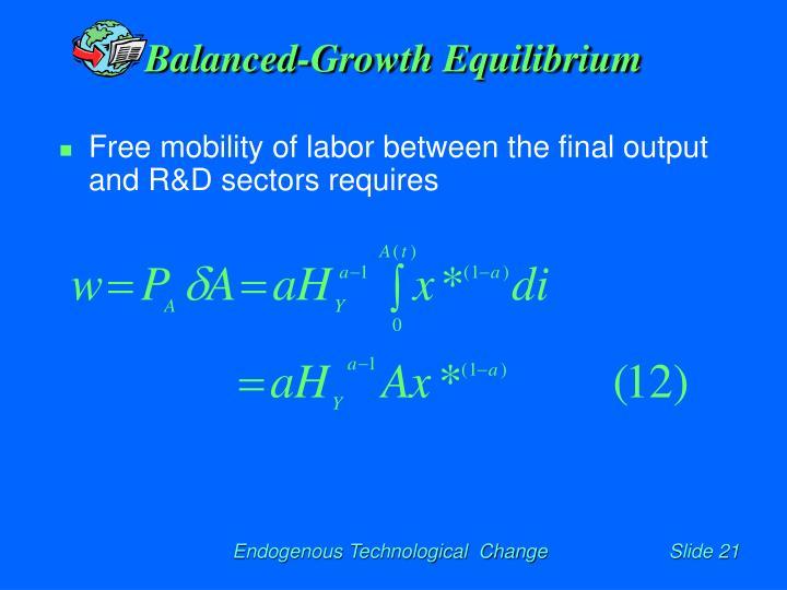 Balanced-Growth Equilibrium
