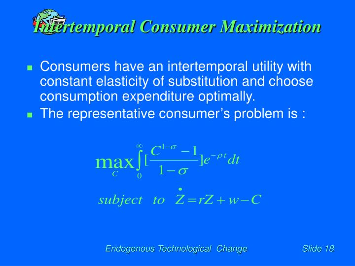Intertemporal Consumer Maximization