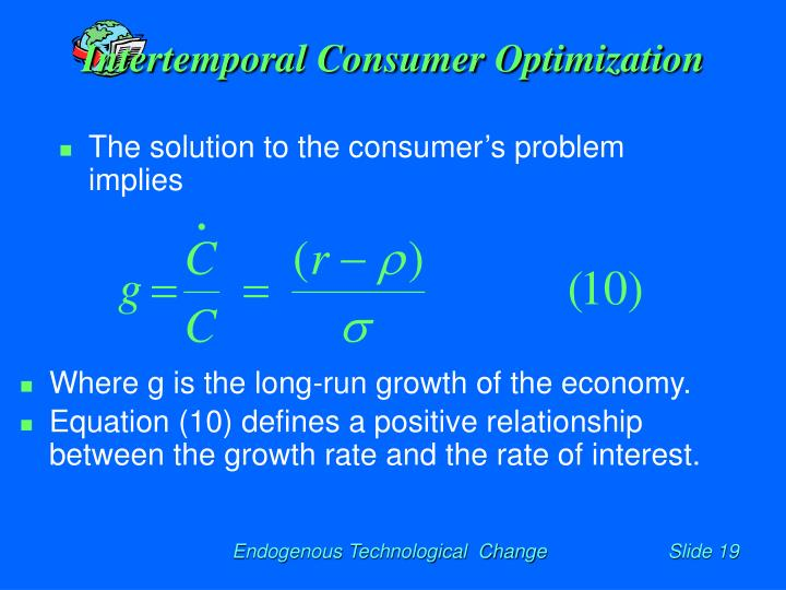 Intertemporal Consumer Optimization