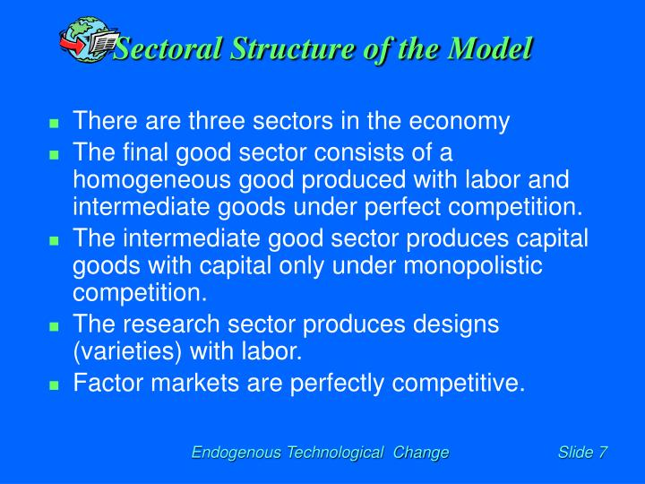 Sectoral Structure of the Model