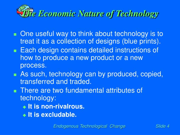 The Economic Nature of Technology