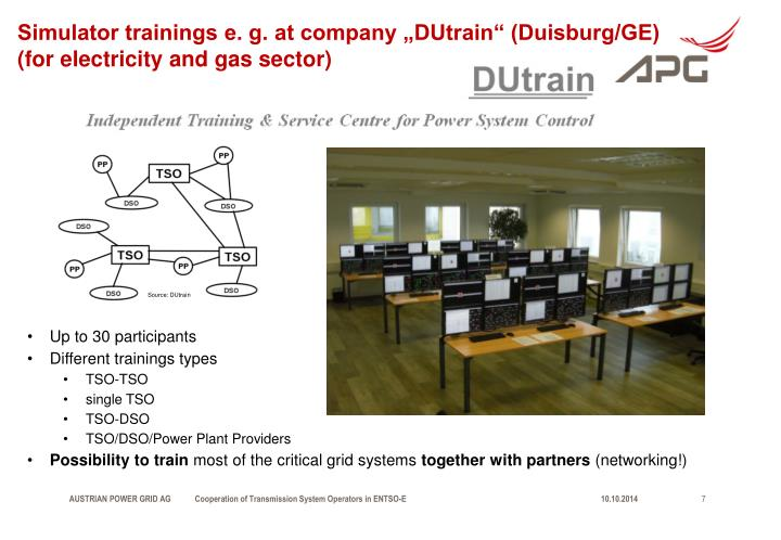 "Simulator trainings e. g. at company ""DUtrain"" (Duisburg/GE)"