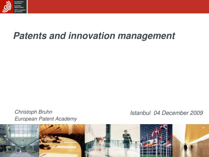 patents and innovation management n.