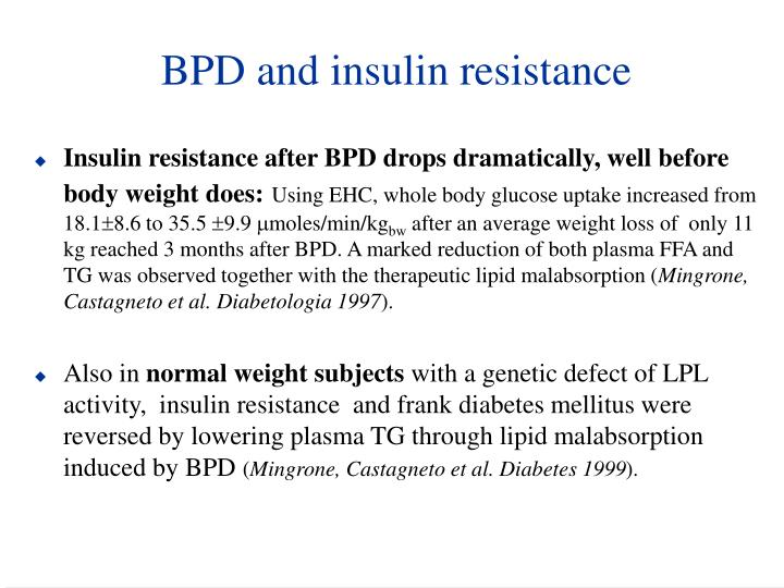 BPD and insulin resistance