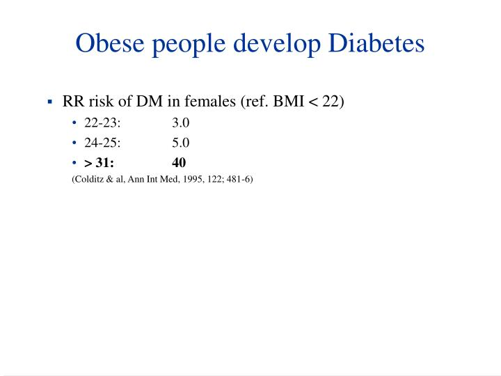 Obese people develop Diabetes