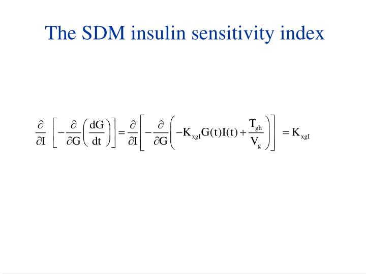 The SDM insulin sensitivity index