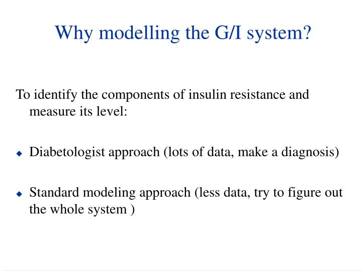 Why modelling the G/I system?