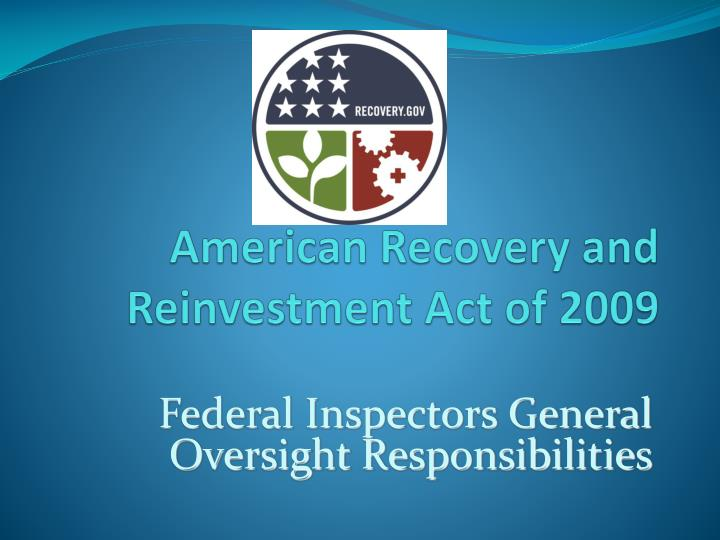 american recovery and reinvestment act of 2009 n.