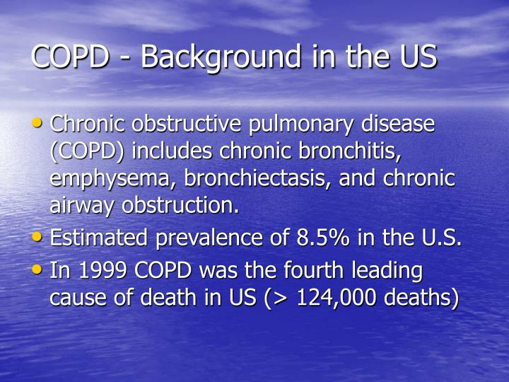 Copd background in the us