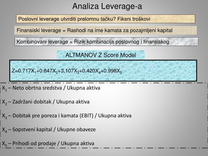 Analiza Leverage-a