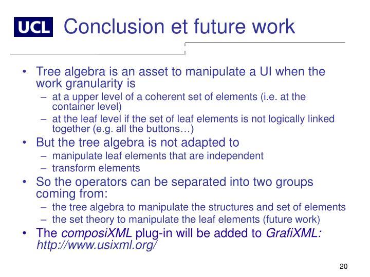 Conclusion et future work