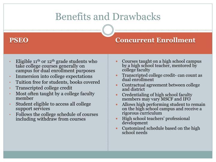 Benefits and Drawbacks