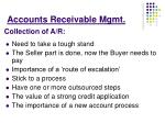 accounts receivable mgmt