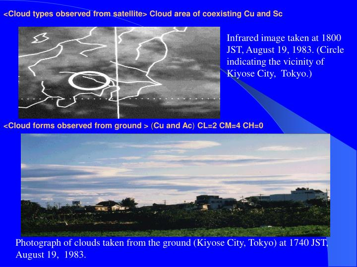 <Cloud types observed from satellite> Cloud area of coexisting Cu and Sc