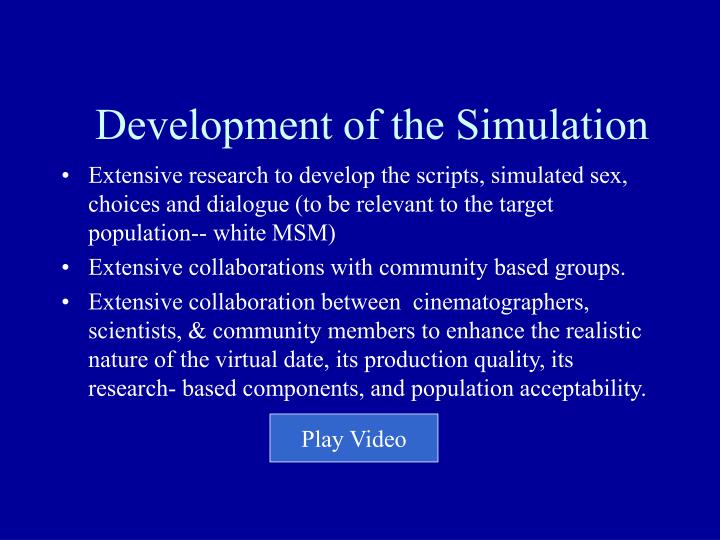 Development of the Simulation