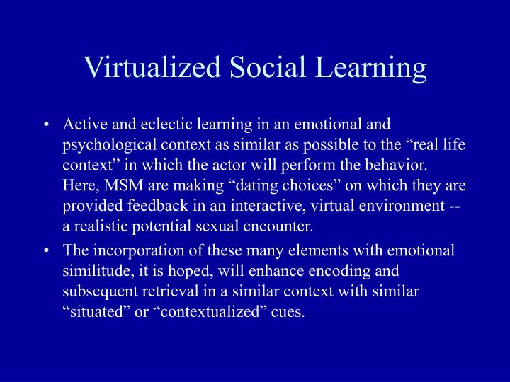 Virtualized Social Learning