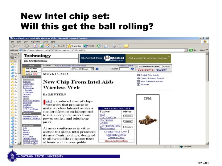 New Intel chip set: