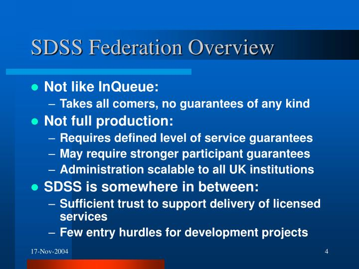 SDSS Federation Overview