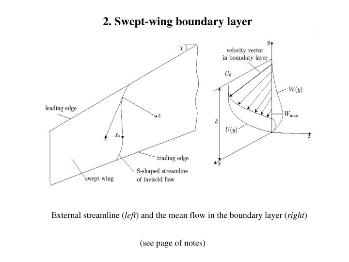 2 swept wing boundary layer