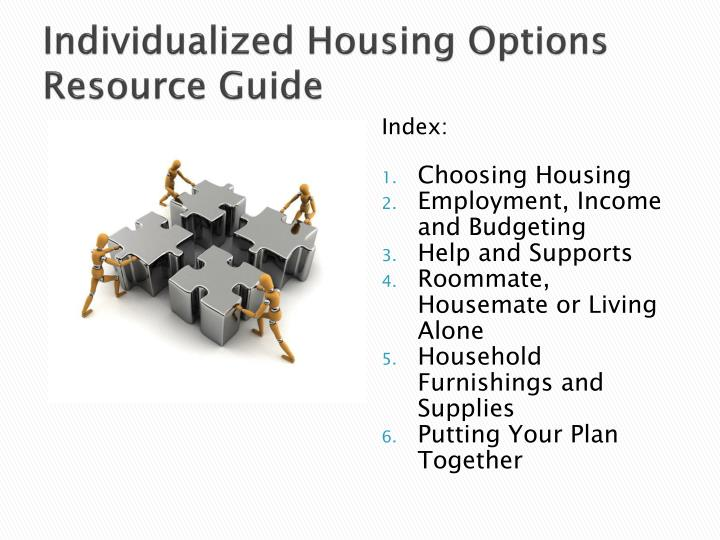 Individualized Housing Options Resource Guide
