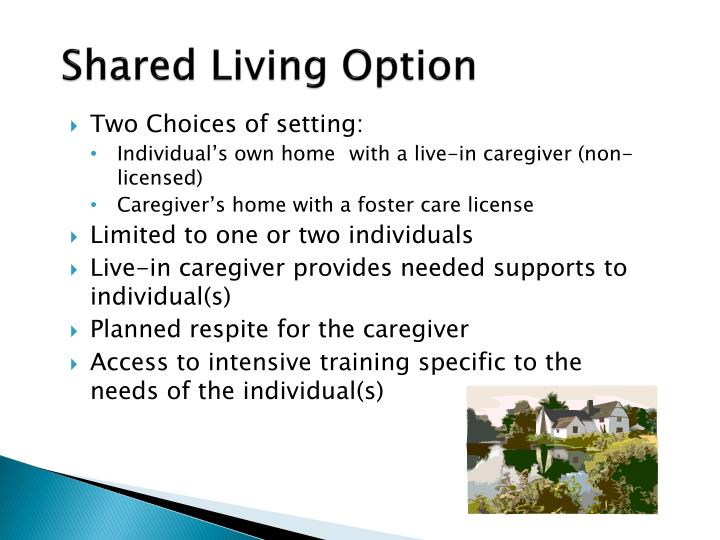 Shared Living Option