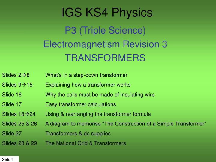 igs ks4 physics n.