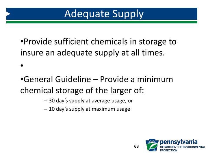 Adequate Supply