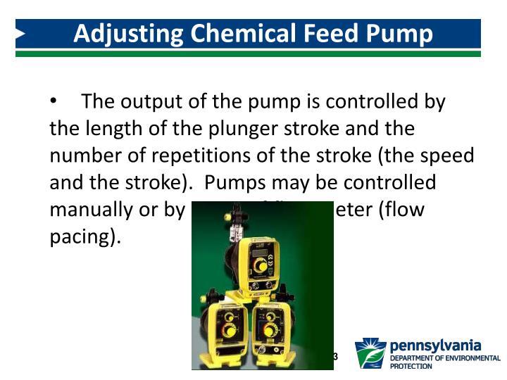 Adjusting Chemical Feed Pump Dosage