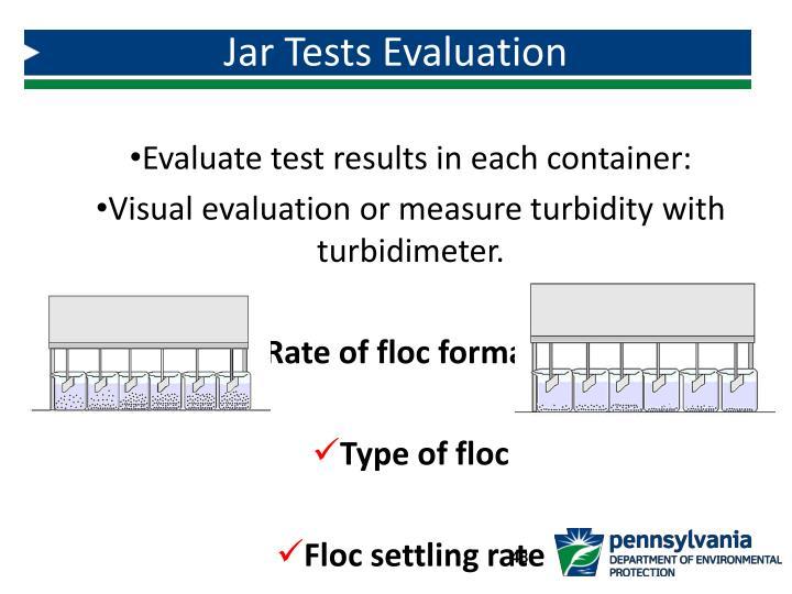 Jar Tests Evaluation