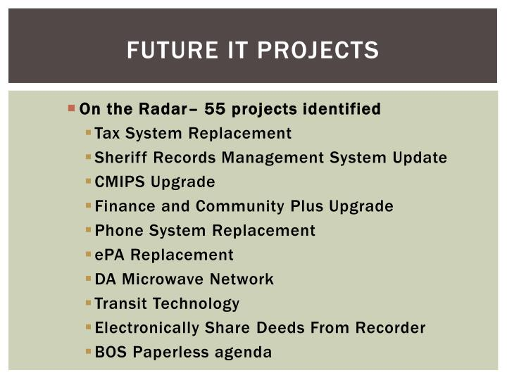Future IT Projects