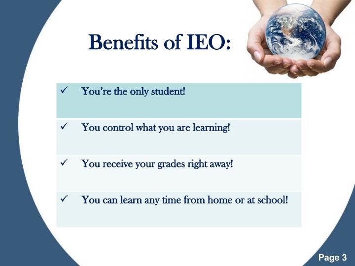 Benefits of ieo