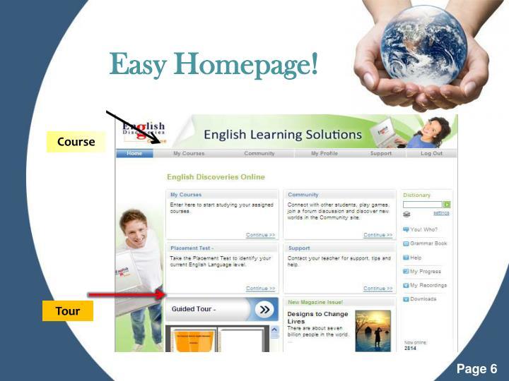 Easy Homepage!