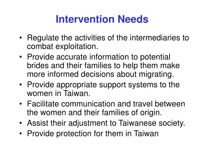 Intervention Needs