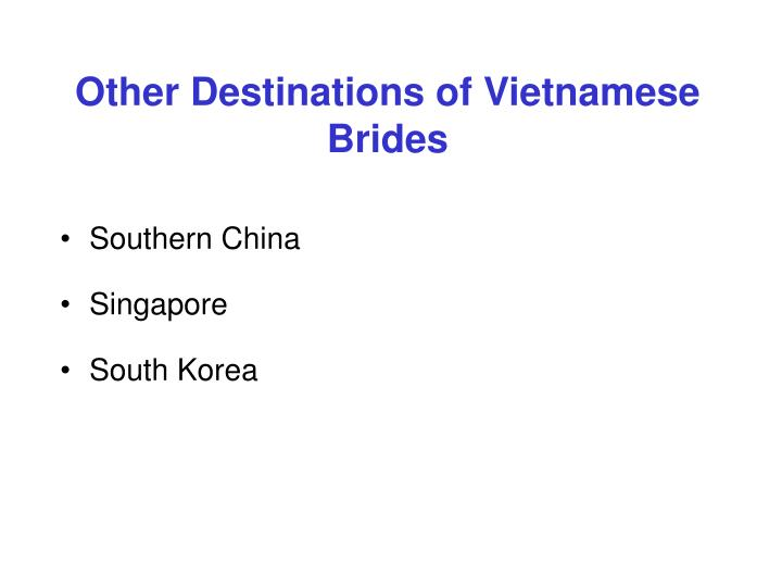 Other Destinations of Vietnamese Brides