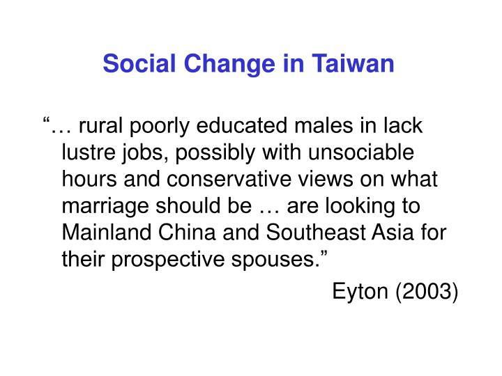 Social Change in Taiwan