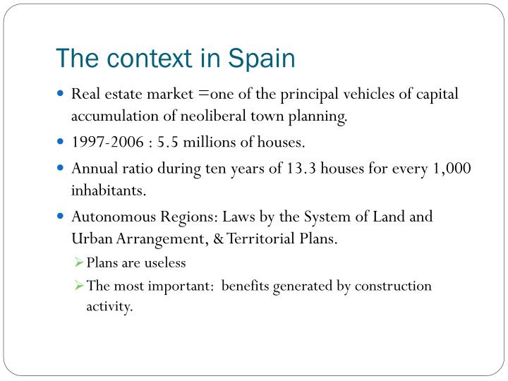 The context in spain