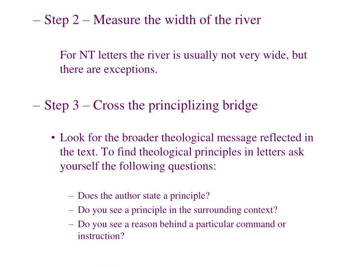 Step 2 – Measure the width of the river