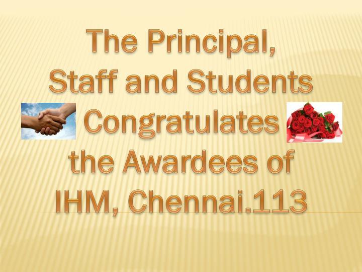 The Principal,